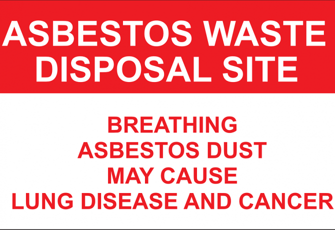 Asbestos safety sign